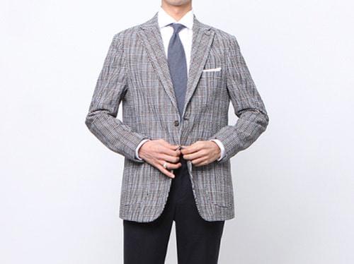 (select) hound tooth check jacket . blue