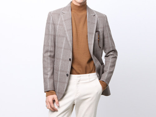 (select) wool tweed check jacket