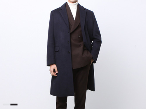 (select) wool cashmere single coat