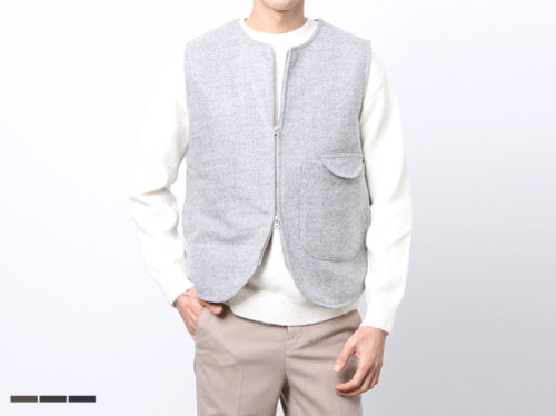 (select) wool quilting vest