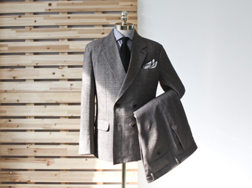 (select) marni double suit . brown