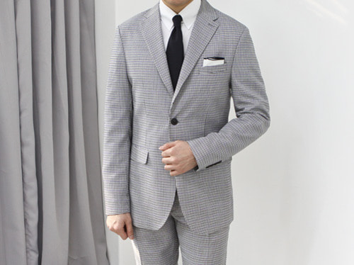 (select) hound tooth check suit . purple