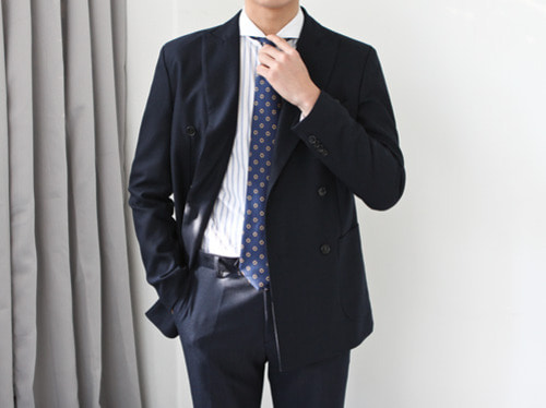 (select) james double suit . navy