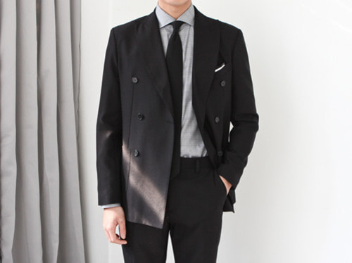(select) james double suit . black