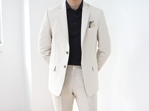 (select) stephan single suit . ivorySEASON OFF 30% SALE 교환 , 반품불가