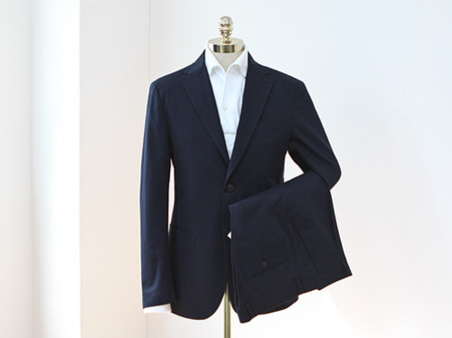 (select) formal cotton suit . navy