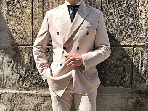 (select) element double suit . beige