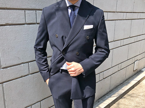 (select) element double suit . navy