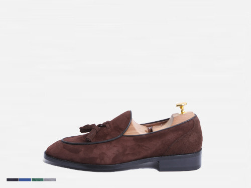 tassle suade loafer