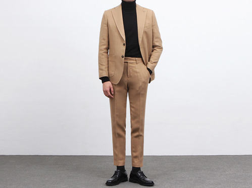 (select) camel herringbone wool suitSEASON OFF 50% SALE 교환 , 반품불가