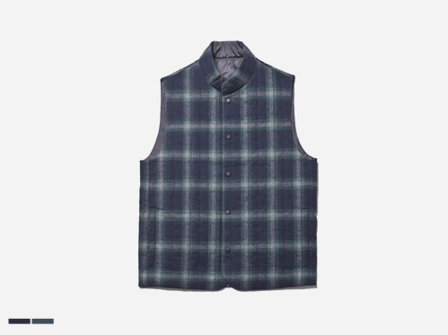 (select) flannel check vest