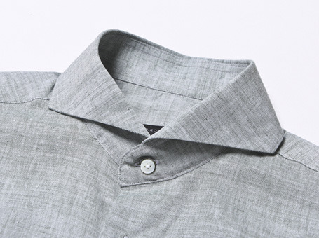 B.ROVER - CUT A WAY LINEN SH GRAYS/S PREMIUM FABRIC SEASON OFF SALE 교환 , 반품불가