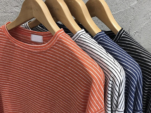 (select) linen stripe tee