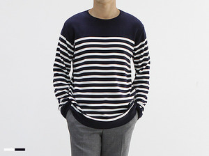 (select) middle stripe knit teeSEASON OFF SALE 교환 , 반품불가