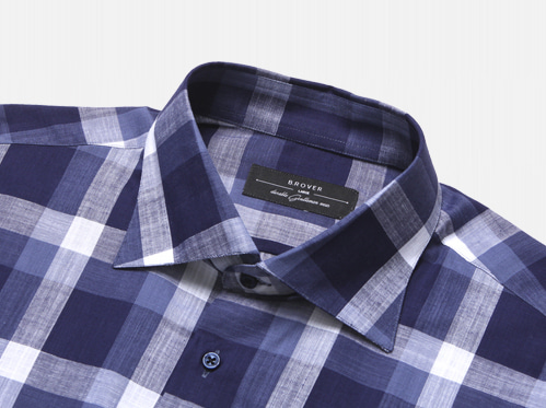 B.ROVER - SQUARE CHECK WIDE SHIRTS