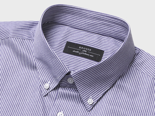 B.ROVER - BUTTONDOWN STRIPE SHIRTS 네이비S/S PREMIUM FABRIC