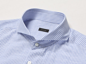 B.ROVER - CUT A WAY STRIPE WIDE SH SKYS/S PREMIUM FABRIC SEASON OFF SALE 교환 , 반품불가