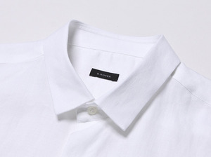B.ROVER - MINIMAL COLLAR SH WHITES/S PREMIUM FABRIC SEASON OFF SALE 교환 , 반품불가