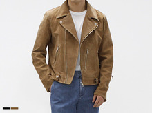 (select) MIL leather rider jacket