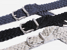 real suede twist belt