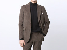 (select) corduroy cotton suit . khaki