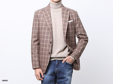 (select) wool window check jacket