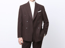 (select) verona wool double suit . brown
