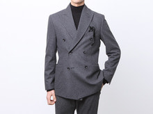 (select) verona wool double suit . charcoal