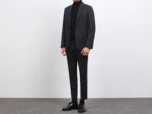 (select) lardin wool suit . charcoal